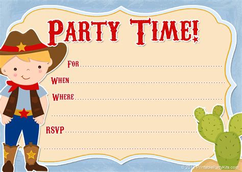 free templates for cowboy invitations 11 beautiful and unique looking western birthday
