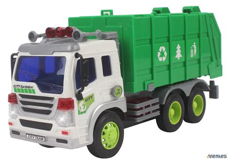 garbage trucks for kids memtes 174 friction powered garbage truck toy with lights and