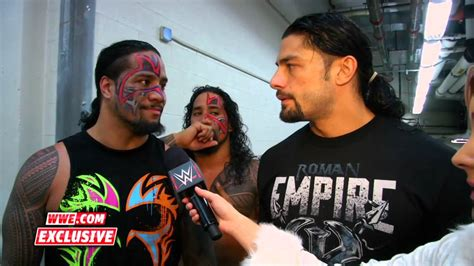 rock and roman reigns the usos and roman reigns