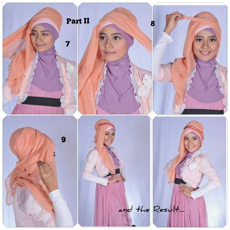 gambar tutorial hijab yang simpel hijabers tutorial sakinah hijab tutorial simple chic