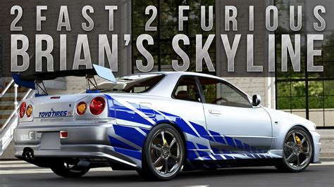 brian fast and furious 1 car forza 5 fast furious car build brian s r34 skyline