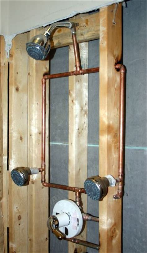 How To Plumb Two Shower Heads by Shower Pressure Balance Loop Question Ceramic Tile