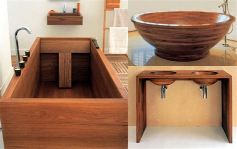 Adagio Sustainable Umbila Wood Tub by Wooden Baths Basins Inhabitat Sustainable Design