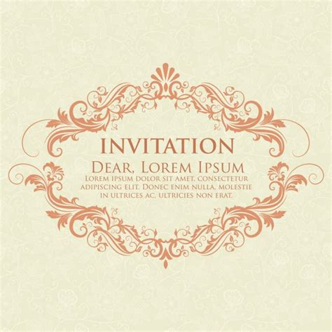 Wedding Backdrop Vector Free by Wedding Invitation And Announcement Card With Vintage