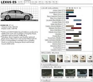 lexus es paint codes media archive clublexus lexus
