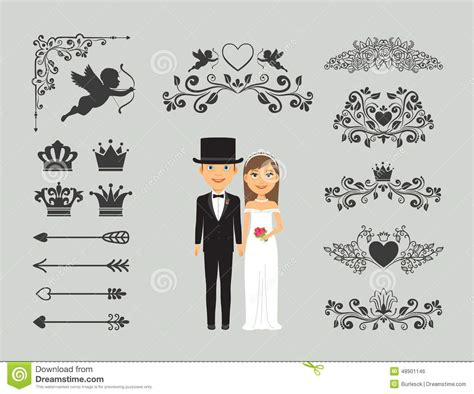 Wedding Invitation Decorations by Wedding Invitation Design Elements Stock Vector
