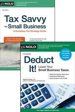 tax savvy for small business a complete tax strategy guide books nolo s small business tax bundle nolo