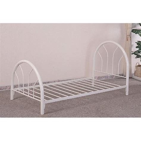 white metal twin bed frame monarch specialties metal bed frame twin white price