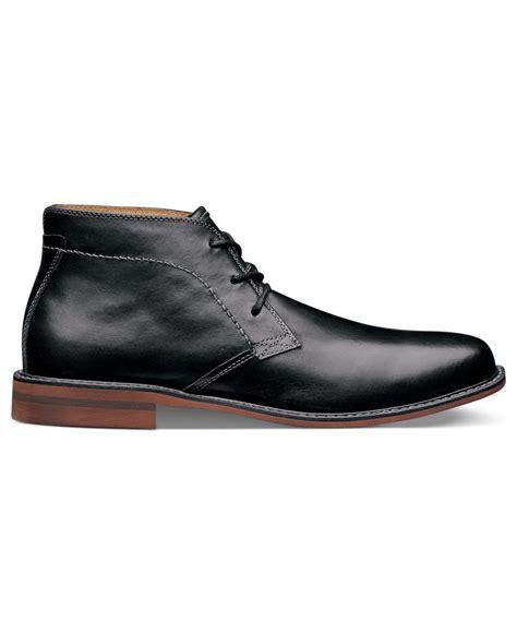florsheim boots florsheim doon leather chukka boots in black for lyst