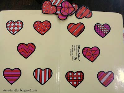 heart pattern match up desert crafter more file folder games for preschoolers