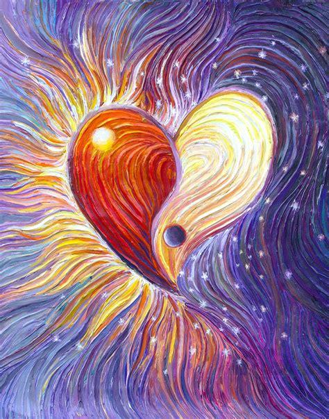 energy art store  julia watkins yin  heart energy painting giclee print