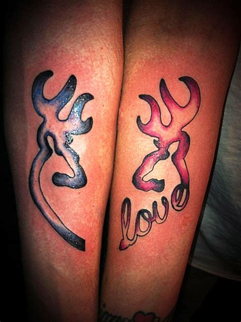 couples deer tattoos 55 lovely ideas to show their to the