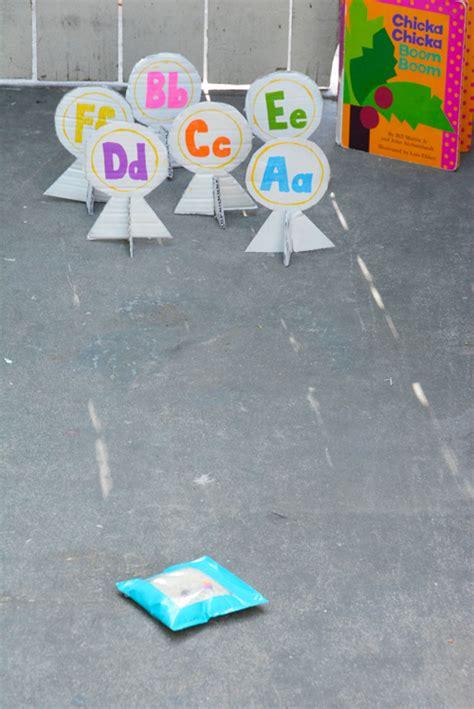 alphabet bean bags activities chicka chicka boom boom alphabet bean bag toss meri cherry