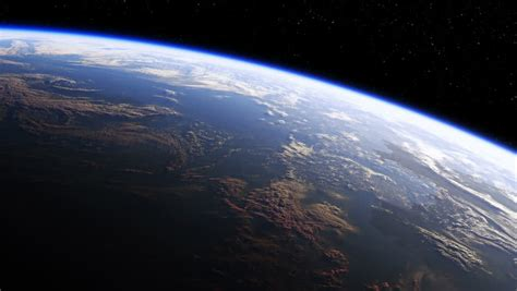flight from the water planet beautiful from earth orbit view from iss