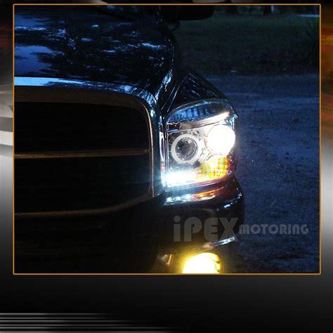 2008 dodge ram 1500 led fog lights 2006 2007 2008 dodge ram 1500 2500 3500 halo led projector