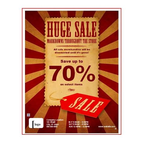 sale advertisement template pricing flyer templates and product lists for small