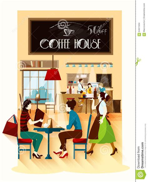 coffee house design coffee house design concept stock vector image 64911504