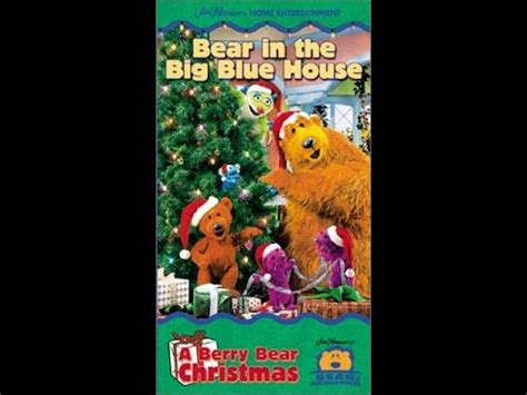 bear inthe big blue house a berry bear christmas opening to bear in the big blue house a berry bear christmas 2000 vhs avon copy