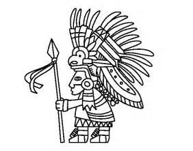 imagenes de quetzalcoatl blanco y negro dibujo de guerrero azteca para colorear dibujos net