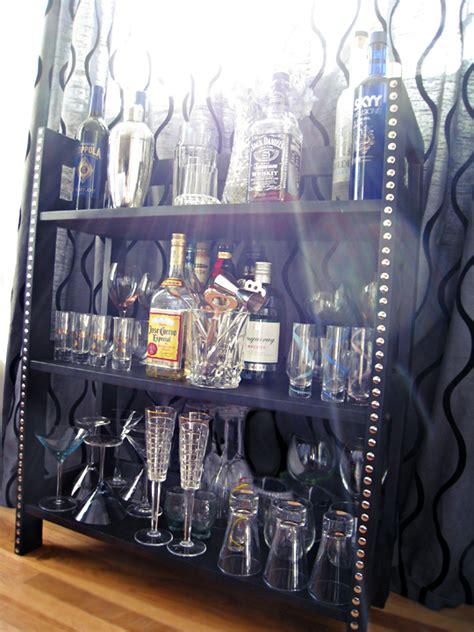 Mini Bar Shelf by Diy Turn Wood Shelves Into A Chic Mini Bar Maegan