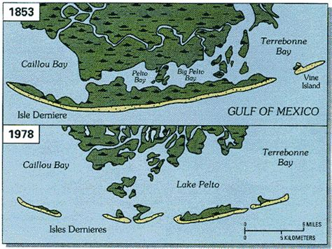 louisiana coastal erosion map figure 2 louisiana coastal wetlands a resource at risk