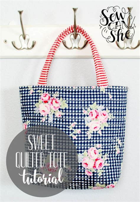 Three More Inspiring Patchwork Projects Sewcanshe Free - sweet quilted tote free sewing tutorial sewcanshe