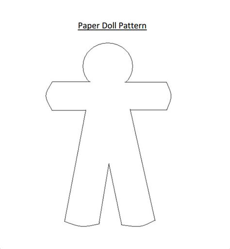 paper dolls template paper doll sle 7 documents in pdf word eps