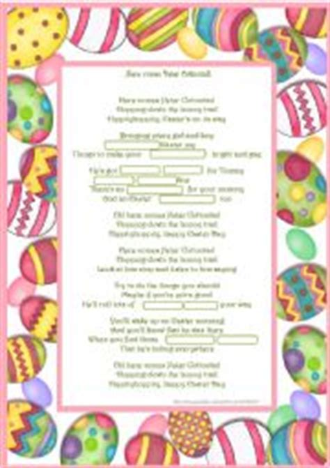 printable lyrics here comes peter cottontail english worksheets here comes peter cottontail song