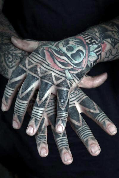 tribal finger tattoo 75 finger tattoos for manly design ideas