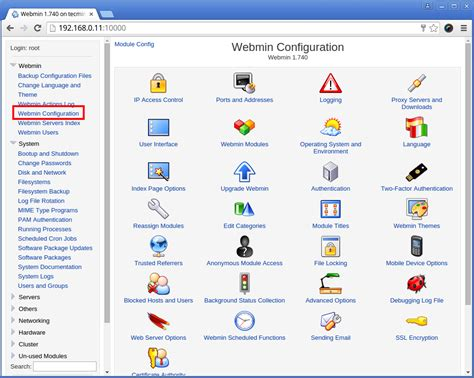 webmin port webmin 1 801 released a web based system administration