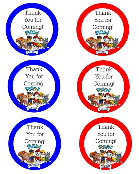 printable paw patrol party decorations paw patrol free birthday party printables delicate