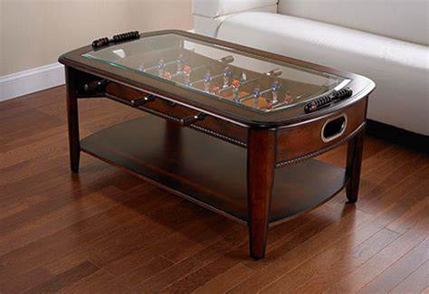 foosball coffee table sharper image