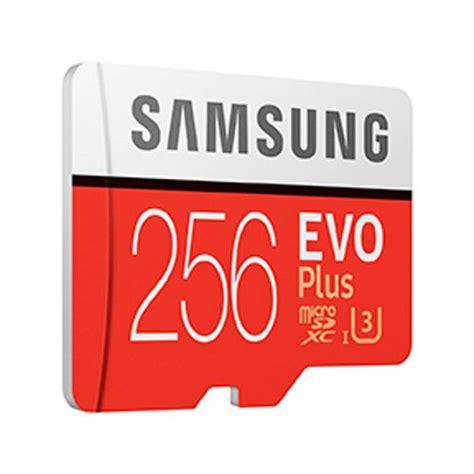 Samsung Evo Plus Microsdxc Uhs I Card With Adapter 64gb 100mb S Merah samsung 256gb microsdxc evo plus uhs i class 10 memory card 100mb s mb mc256ga mwave au