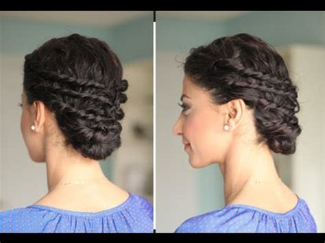 cute hairstyles for curly hair youtube easy up do for naturally curly hair youtube