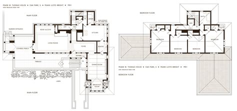 frank lloyd wright plans frank lloyd wright robie house floor plans oak building