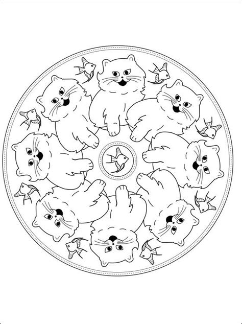 mandala coloring pages cat 438 best images about printables 4 on