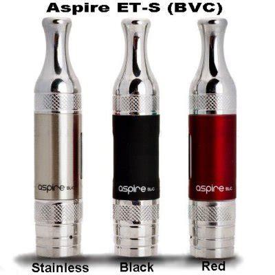Aspire Bvc Et S Glass Version Clearomizer 1 8 Ohm Black Hitam aspire et s bvc clearomizer glassomizer