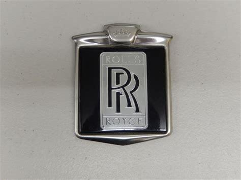 rolls royce 80s vintage rr rolls royce logo badge renamel 70 s 80 s metal