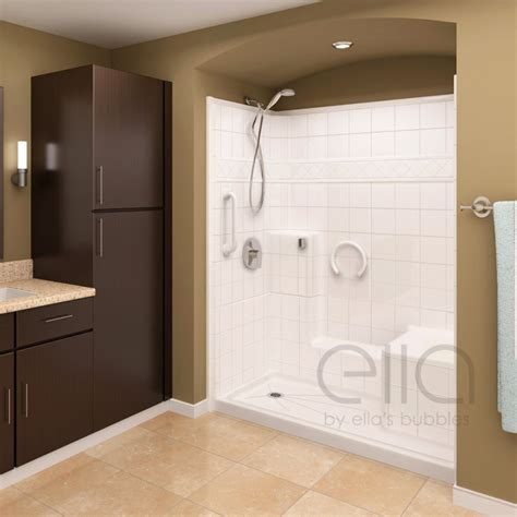 Molded Corner Shower Stalls Shower Stalls With Seat Size Of All In One Shower