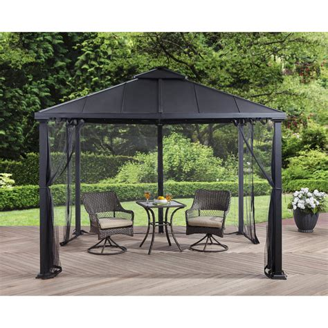 gazebo with netting better homes and gardens sullivan ridge top gazebo