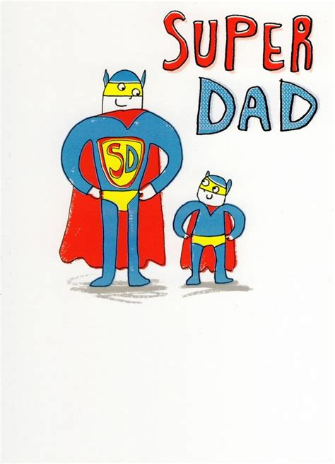 Super Dad My Hero Happy Father's Day Card   Cards   Love Kates