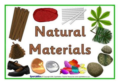 natural materials natural and man made materials signs sb2699 sparklebox