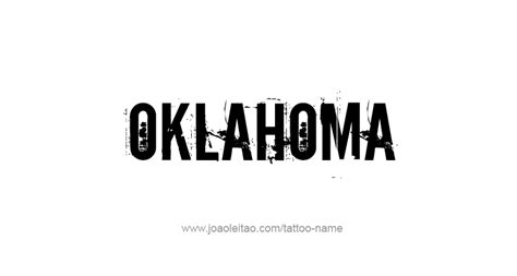 ou tattoo designs oklahoma usa state name designs tattoos with names