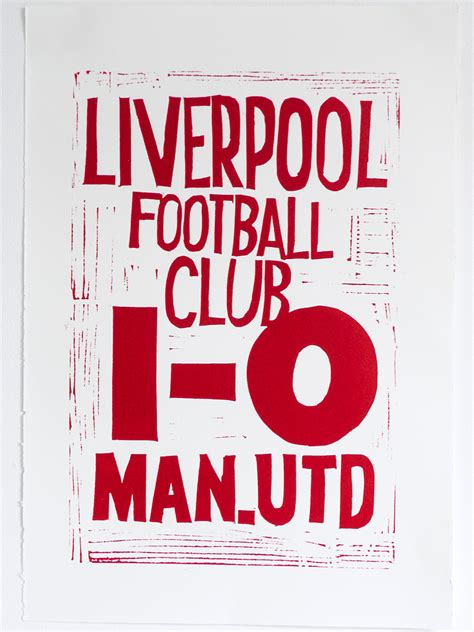 poster design liverpool hand printed liverpool results p 243 g mo goal