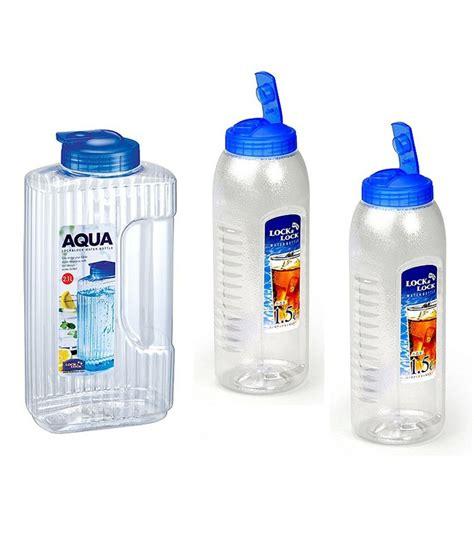Sale Tempat Minum Set Lengkap buy lock lock assorted bottle set 3 pcs lowest prices snapdeal