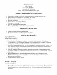 Targeted Resume Template by Sle Human Resources Resume