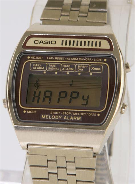 vintage casio melody alarm h104g gold bangkokjunkman