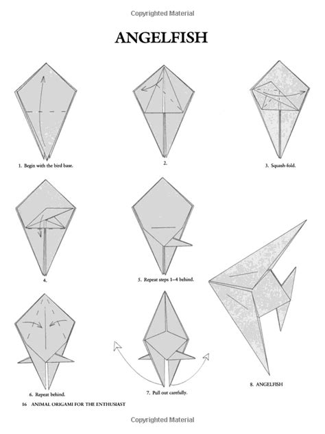 How To Make An Origami Angelfish - 24 best origami fish images on origami fish