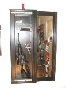 Hidden gun cabinet mirror secret gun cabinet behind mirror stashvault