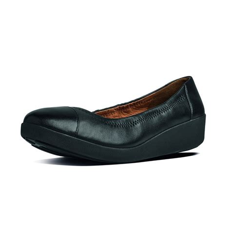 ff2 collection by fitflop f pop ballerina in soft black